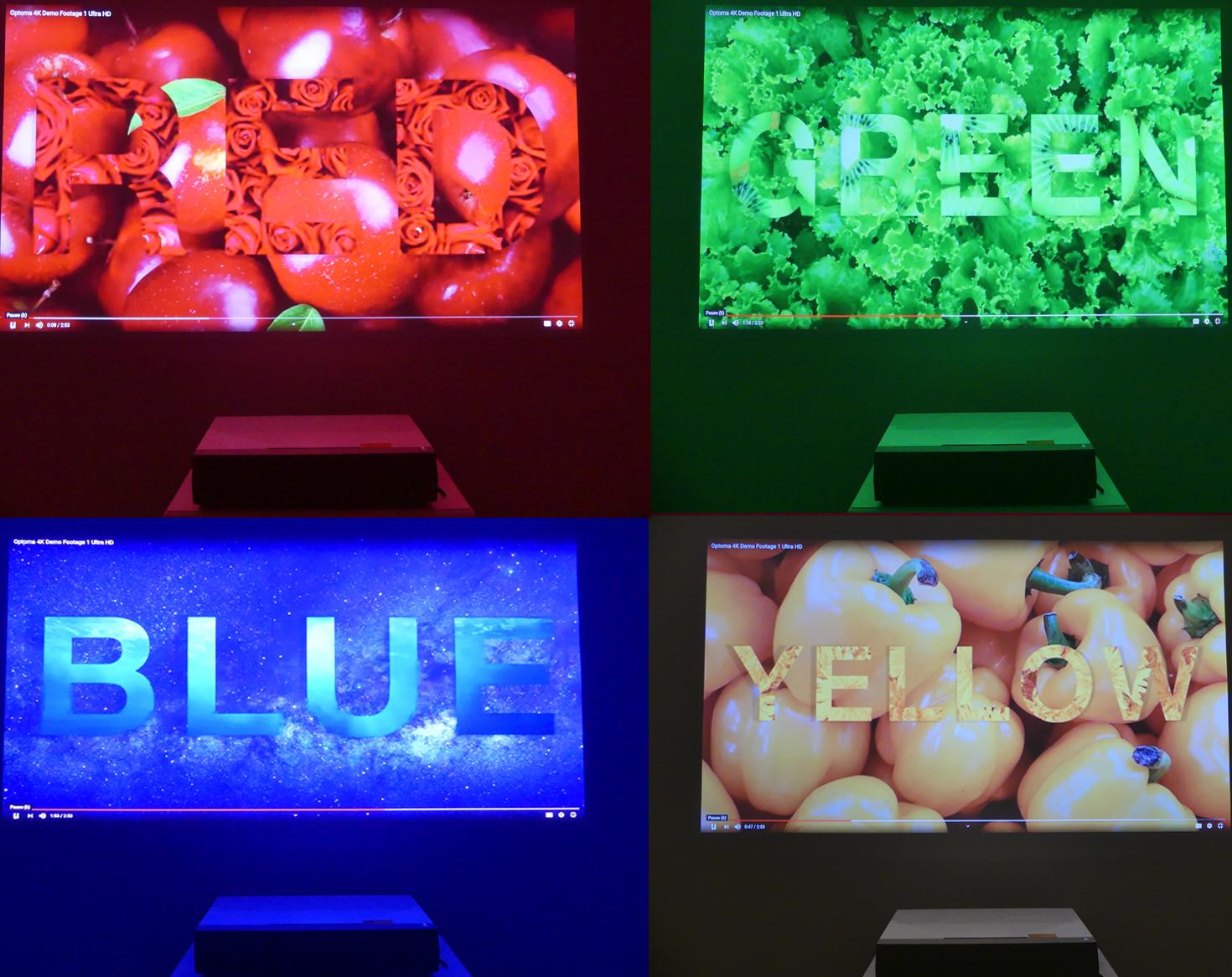 Optoma CInemaX p2 kleuren